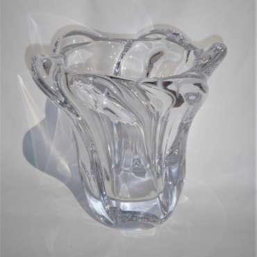 Mid Century Signed Freeform Daum Vase