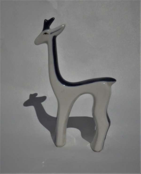 Mid Century Royal Dux Miniature Deer