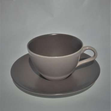 1950s Poole Twintone Teacup and Saucer