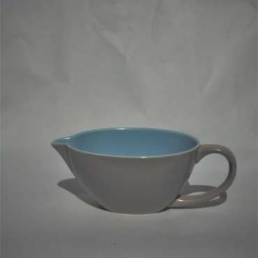 Poole Twintone Gravy Boat Ice Green and Seagull