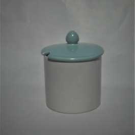 1963 Poole Twintone Contour Jam Pot