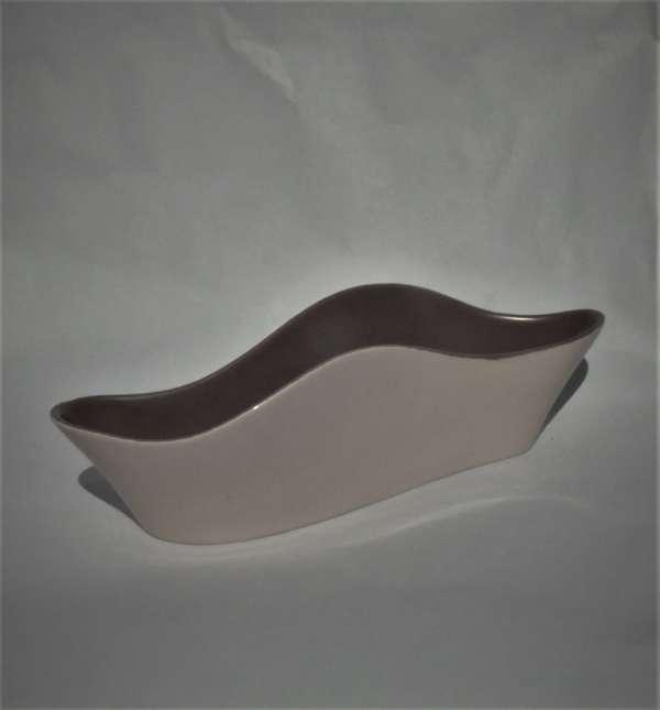 1950s Poole Pottery Freeform C54 Wave Vase