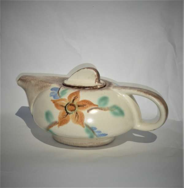 Art Deco Handpainted Streamlined Teapot by Elsterwerda