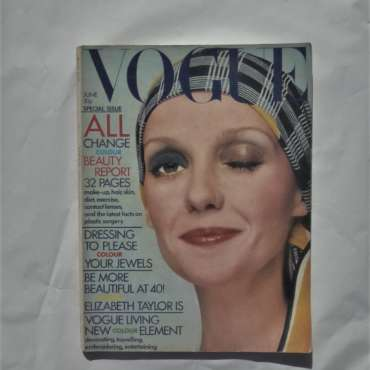 Vogue June 1972. David Bailey Cover