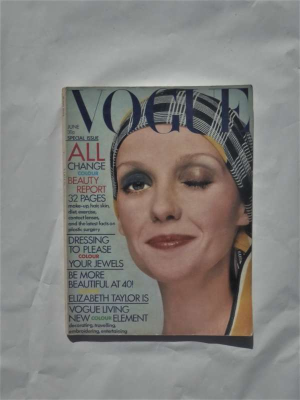 Vogue June 1972. David Bailey Cover