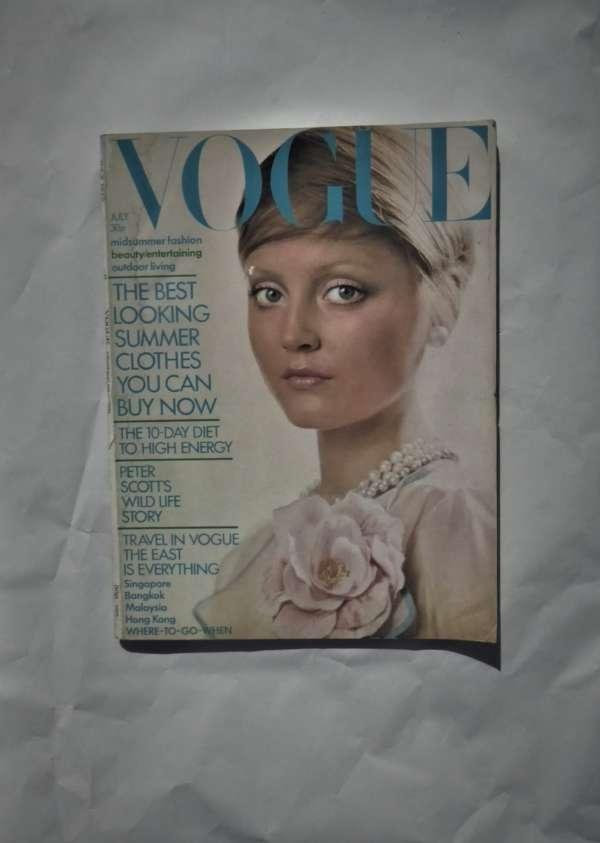 Vogue July 1972.David Bailey Cover.