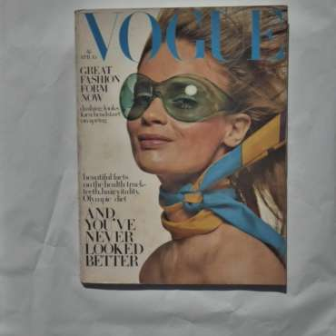 Vogue April 15th 1968. Celia Hammond Cover